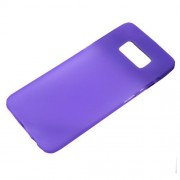 Matte Anti-fingerprint TPU Phone Back Cover Casing for Samsung Galaxy S8 - Purple
