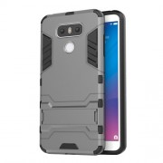 Cool Guard Hybrid Kickstand Phone Cover (Plastic + TPU) for LG G6 - Grey