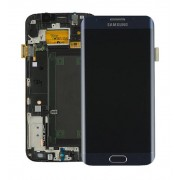 Γνήσια Samsung Οθόνη LCD με Μηχανισμό Αφής Digitizer για Samsung Galaxy S6 Edge SM-G925F (GH97-17162A) - Μαύρο