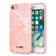 LAUT Huex Elements Silikone Case for iPhone 7 / 6 / 6s - Marble Pink