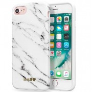 LAUT Huex Elements Silikone Case for iPhone 7 / 6 / 6s - Marble White