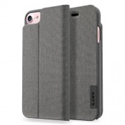 LAUT Apex Knit Book Case with Stand for iPhone 7 Plus / 6 Plus / 6s Plus - Granite