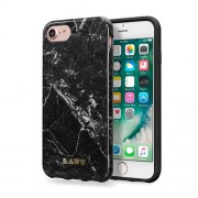 LAUT Huex Elements Silikone Case for iPhone 7 Plus / 6 Plus / 6s Plus - Marble Black