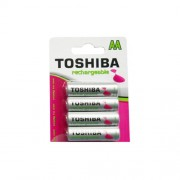 Toshiba Battery Rechargeable AA BP4 2250mAh (4 pieces)