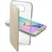 Cellular Line Θήκη Βιβλίο με Διάφανη Πλάτη για Samsung Galaxy S6 Edge G925 - Χρυσαφί (CLEARBOOKGALS6EH)