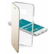 Cellular Line Θήκη Βιβλίο με Διάφανη Πλάτη για Samsung Galaxy S6 G920 - Χρυσαφί (CLEARBOOKGALS6H)