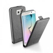Cellular Line Δερμάτινη Θήκη Flip για Samsung Galaxy S6 Edge G925 - Μαύρο (FLAPESSGALS6EK)