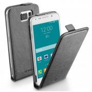 Cellular Line Δερμάτινη Θήκη Flip για Samsung Galaxy S6 G920 - Μαύρο (FLAPESSGALS6K)