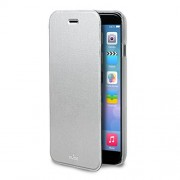 Puro Δερμάτινη Θήκη Πορτοφόλι με Βάση Στήριξης για iPhone 6 Plus / 6S Plus - Ασημί (IPC655BOOKC1SIL)