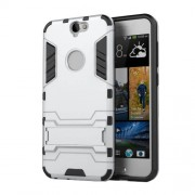 Cool Hybrid Case Plastic + TPU Cover with Kickstand for HTC One A9 - Silver