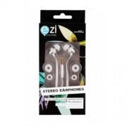 Ezi Ακουστικά Handsfree με Μικρόφωνο και Πλατύ Καλώδιο - Λευκό (EZI-ST.EARPHONE.WHITE.NC)