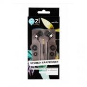Ezi Ακουστικά Handsfree με Μικρόφωνο και Πλατύ Καλώδιο - Μαύρο (EZI-ST.EARPHONE.BLACK FC.N-IN)