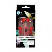Ezi Ακουστικά Handsfree με Μικρόφωνο και Πλατύ Καλώδιο - Κόκκινο (EZI-ST.EARPHONE.RED.FC)
