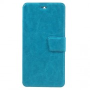 Crazy Horse Magnetic Leather Stand Case for Lenovo K5 Note - Blue