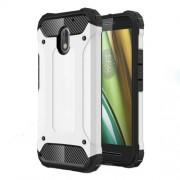 Armor Guard Plastic + TPU Hybrid Shell Case for Motorola Moto E3 - White