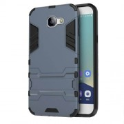 Υβριδική Θήκη Σιλικόνης TPU σε Συνδυαμό με Πλαστικό και με Βάση Στήριξης για Samsung Galaxy A8 (2016) - Σκούρο Μπλε