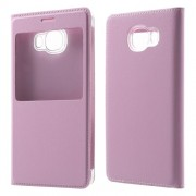 View Window Leather Protector Case for Samsung Galaxy C5 - Pink