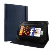 Puro Universal Δερμάτινη Θήκη με Βάση Στήριξης για Tablet μέχρι 8.9'' - Σκούρο Μπλε (UNIBOOK89BLUE)