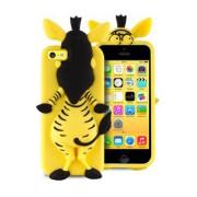 Puro Θήκη Σιλικόνης 3D Σχέδιο Ζέβρα για iPhone 5 / 5S / SE - Κίτρινο (IPCCZEBRA3DYEL)