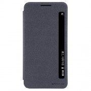 NILLKIN Sparkle Series Δερμάτινη Θήκη Βιβλίο Smart Cover για LG X Power K220 K220DS - Μαύρο