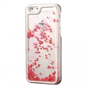 Dynamic Liquid Glitter Heart Plastic Case for iPhone 6s / 6 4.7 inch - Red