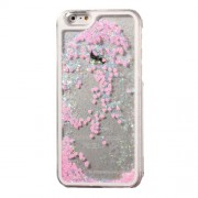 Dynamic Liquid Glitter Heart Plastic Cover for iPhone 6s / 6 4.7 inch - Pink