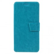 Crazy Horse Flip Leather Phone Case with Card Slots for Huawei Y6 II / Honor 5A - Blue
