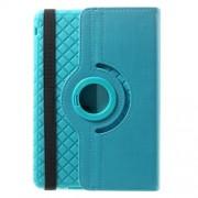 Twill Grain Leather Cover w/ 360 Degree Rotatory Stand for iPad Mini / Mini 2 / Mini 3 - Baby Blue