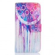 Patterned PU Leather Cover Case for Samsung Galaxy J7 (2016) - Dream Catcher