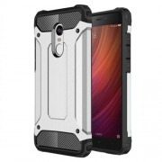 Tough Armor Υβριδική Θήκη Σιλικόνης TPU σε Συνδυαμό με Πλαστικό για Xiaomi Redmi Note 4X - Ασημί