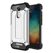 Tough Armor Υβριδική Θήκη Σιλικόνης TPU σε Συνδυαμό με Πλαστικό για Xiaomi Redmi Note 3 / Note 3 Pro - Ασημί