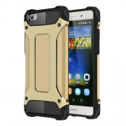 Armor Guard Plastic and TPU Phone Shell for Huawei Ascend P8 Lite - Gold