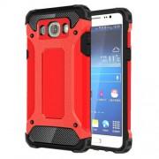 Tough Armor Υβριδική Θήκη Σιλικόνης TPU σε Συνδυαμό με Πλαστικό για Samsung Galaxy J7 (2016) - Κόκκινο