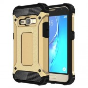Armor Guard Hybrid PC + TPU Case for Samsung Galaxy J1 (2016) - Gold