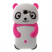 3D Panda Silicone Phone Cover for Samsung Galaxy A5 SM-A510F (2016) - Rose