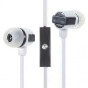 In-ear Stereo Earphone with Microphone for iPhone Samsung PHW-204 - White
