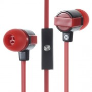 In-ear Stereo Earphone with Microphone for iPhone Samsung - Red