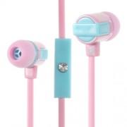 Στερεοφωνικά Ακουστικά με Μικρόφωνο για όλα τα Smartphones - Ροζ
