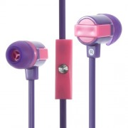 In-ear Stereo Earphone with Microphone for iPhone Samsung - Purple