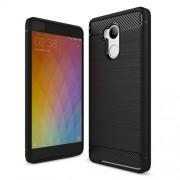 Θήκη Σιλικόνης TPU Carbon Fiber Brushed για Xiaomi Redmi 4 Prime / 4 Pro - Μαύρο