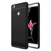 Carbon Fibre Brushed TPU Case for Xiaomi Mi Max - Black