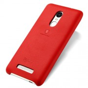 LENUO Music Case II Σκληρή Θήκη Λεπτή με Επένδυση Δέρματος για Xiaomi Redmi Note 3 Pro Special Edition - Κόκκινο