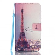 Patterned Leather Wallet Stand Case for Samsung Galaxy J5 (2016) - Paris Tower