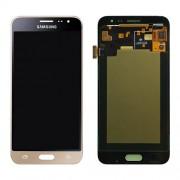 Γνήσια Samsung Οθόνη LCD και Μηχανισμός Αφής για Samsung Galaxy J3 (2016) SM-J320F - Χρυσαφί (GH97-18414B)