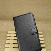 Black Litchi Grain Leather Wallet Folio Cover for Samsung Galaxy Note 3 Lite N750 / Neo N7505