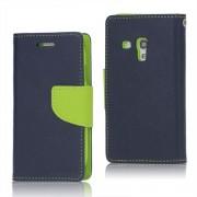 Mercury GOOSPERY Fancy Diary Δερμάτινη Θήκη Πορτοφόλι με Βάση Στήριξης για Samsung Galaxy S III / 3 Mini I8190 - Μπλε/Λαχανί