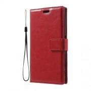 Δερμάτινη Θήκη Πορτοφόλι με Βάση Στήριξης για Sony Xperia XZs / XZ - Κόκκινο