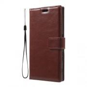 Δερμάτινη Θήκη Πορτοφόλι με Βάση Στήριξης για Sony Xperia XZs / XZ - Καφέ