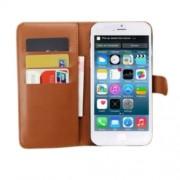 Δερμάτινη Θήκη Πορτοφόλι με Βάση Στήριξης για iPhone 6 Plus / 6s Plus - Καφέ