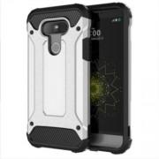 Tough Armor Υβριδική Θήκη Σιλικόνης TPU σε Συνδυαμό με Πλαστικό για LG G5 - Ασημί